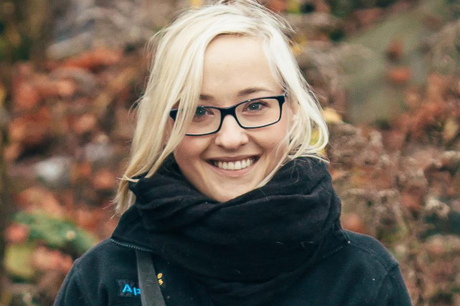 Jagna Gill jobbar med att införa nose work till Polen och är arrangör för europas första nose work-tävling.