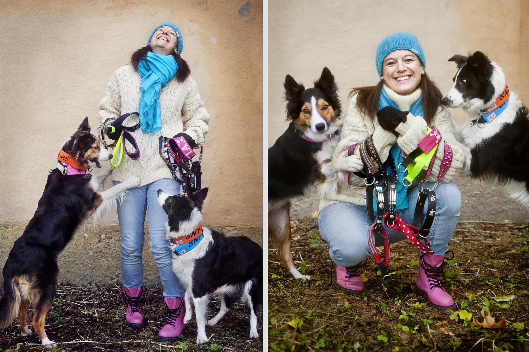 Vad ska vi ha för halsband på oss i dag matte?<span>Sofia är ingen samlare men har trots detta ett 60-tal halsband till sina hundar.</span>