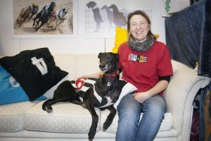 I hundkapplöpningsmontern: Malin Månsson & Madam, \
