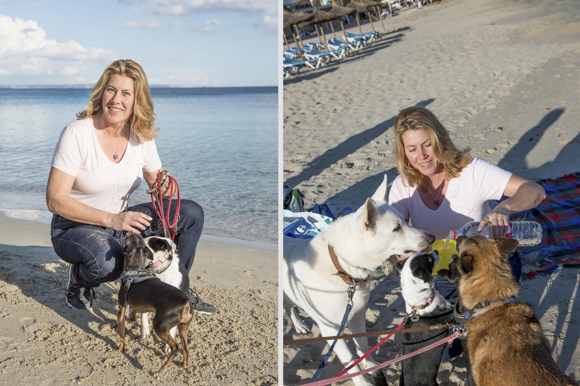 Christina Kastin bor på Mallorca och vill göra det lättare för hundägaren att resa till ön.